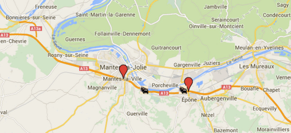 Circulation en accordéon sur 6,5 km sur l'A13 entre Epône et le péage de Mantes