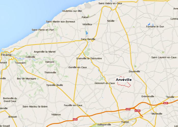 Les faits se sont produits à Anvéville, un bourg cauchois d'à peine 280 habitants dans le canton d'Ourville-en-Caux