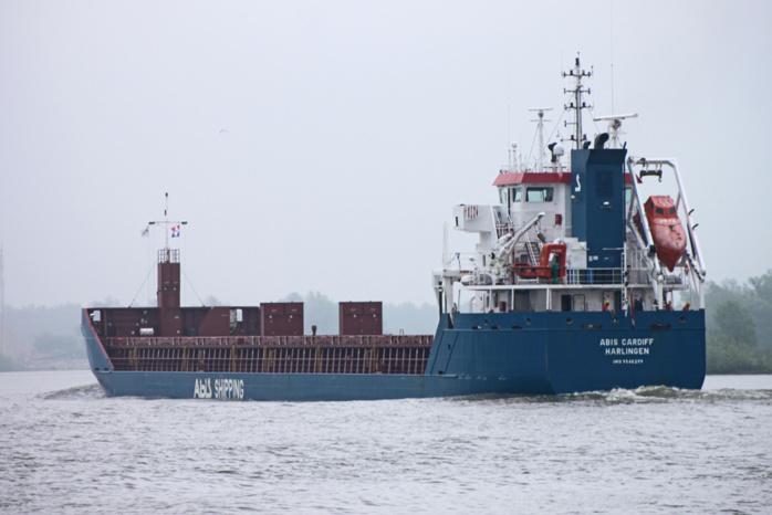 Le navire Abis Cardiff est arrivé ce vendredi en fin de nuit dans la grande rade de Cherbourg (Photo d'illustration DR)