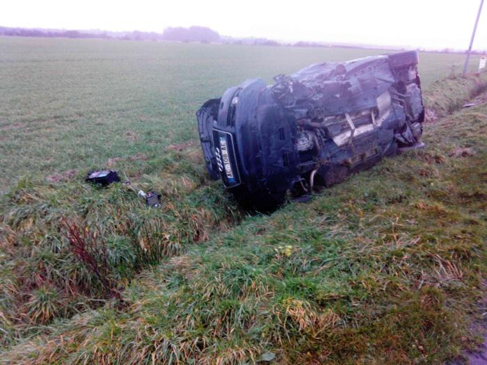 Le conducteur de l'Audi est sorti indemne de l'accident (Photo DR)