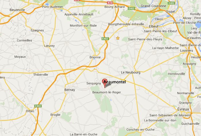 Eure : une maison d'habitation détruite par le feu cette nuit à Beaumontel