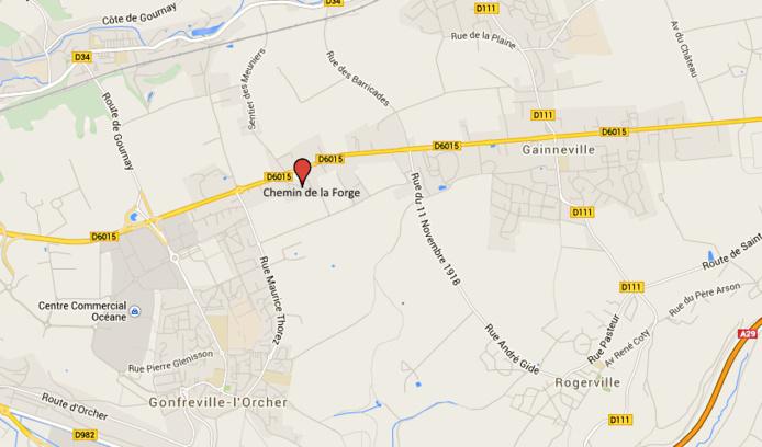 Le piéton a été découvert inanimé et grièvement blessé dans le chemin de la Forge, à proximité de la D6015