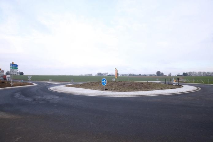 L'aménagement d'un giratoire va permettre de sécuriser le carrefour