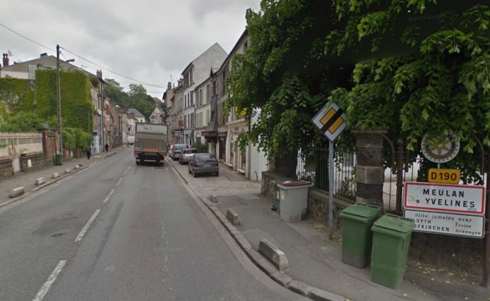 La rue Georges Clemenceau à Meulan-en-Yvelines (@Google Maps)