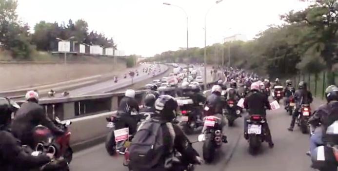 Entre 400 et 800 motards sont attendus à cette manifestation dans les rues de Paris (Photo d'illustration)