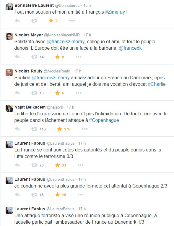 Attentat de Copenhague : Nicolas Rouly exprime son soutien à François Zimeray