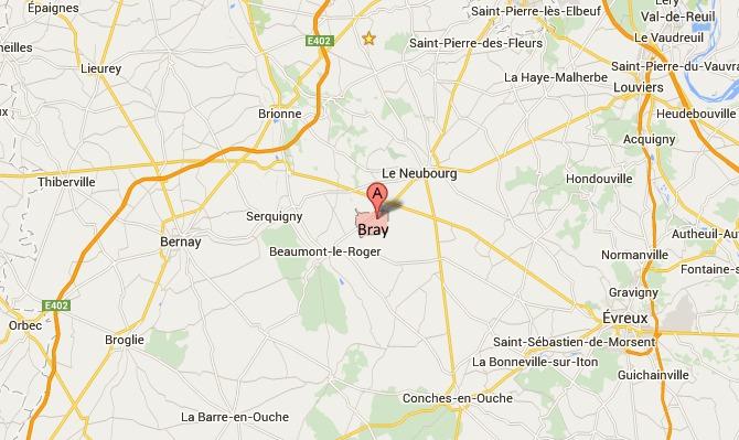 La voiture fait des tonneaux : un blessé léger à Bray (Eure)