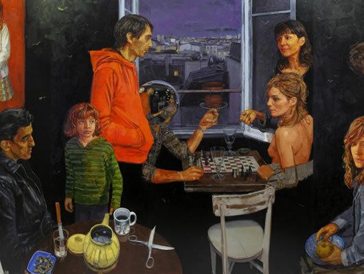 Gilles Marrey expose une série de toiles au Centre d'art contemporain de la Matmut.