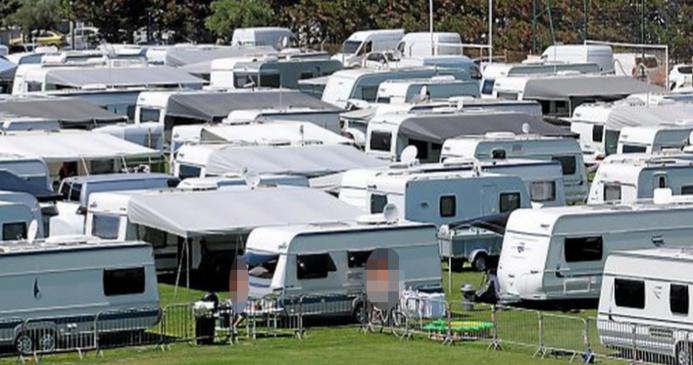 Une cinquantaine de caravanes est installée depuis mardi soir sur un terrain appartenant à EDF(Photo d'illustration)