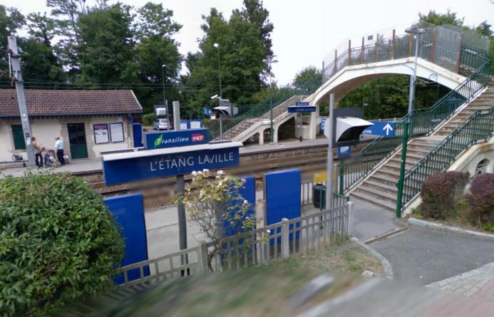 La circulation des trains a été totalement interrompue entre les gares de l'Etang-la-Ville et de Saint-Nom-la-Bretèche (Photo d'illustration)