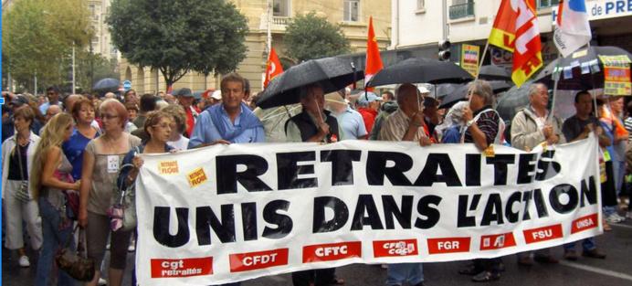 Photo d'illustration d'une des dernières manifestation de retraités (@DR)