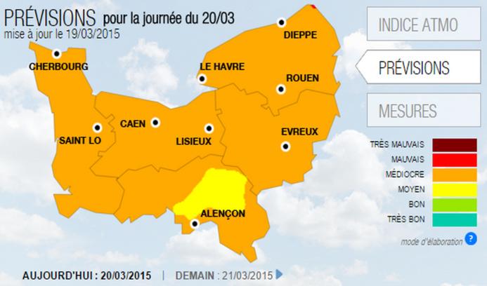 Pollution de l'air : ça continue ce vendredi en Haute-Normandie