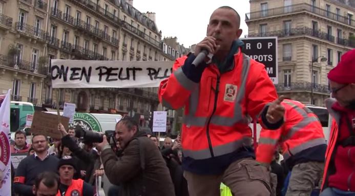 Photo de la manifestation contre le RSI à Paris le 9 mars dernier (capture d'écran)