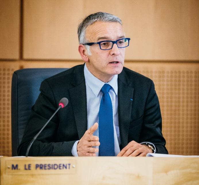 Pascal Martin lors de son discours d'installation (Photo @CG76)