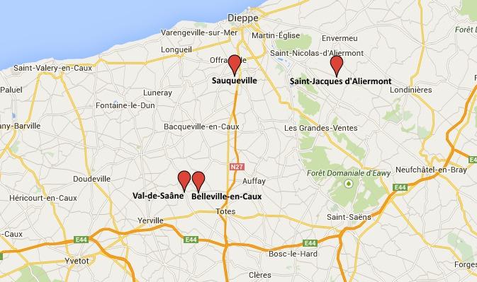 Quatre cambriolages constatés la même nuit dans la région de Dieppe