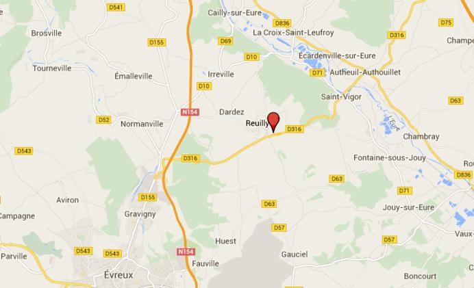 Eure : une automobiliste trouve la mort dans un accident de la route à Reuilly