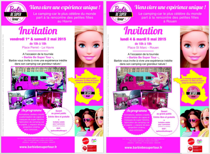 La tournée de la célèbre poupée Barbie s'arrêtera au Havre et à Rouen