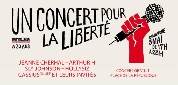 """""""Concert pour la liberté"""" de la presse dimanche 3 mai à Paris : une belle affiche"""