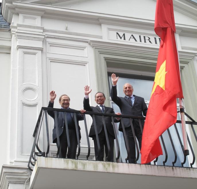 Une délégation vietnamienne accueillie à Sainte-Adresse pour tisser des liens d'amitié
