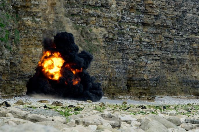 Les obus ont été détruits sur place (Photos : B.Planchais@MarineNationale)