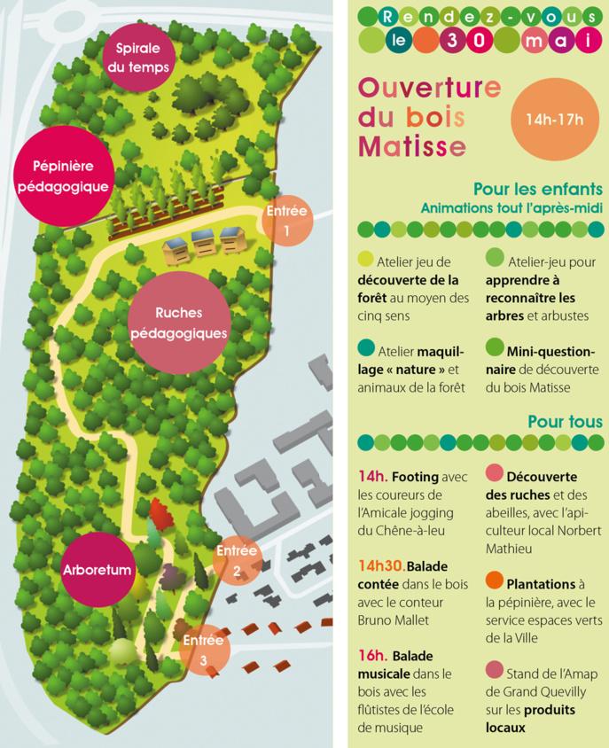 Grand-Quevilly : le bois Matisse attend les visiteurs samedi 30 mai