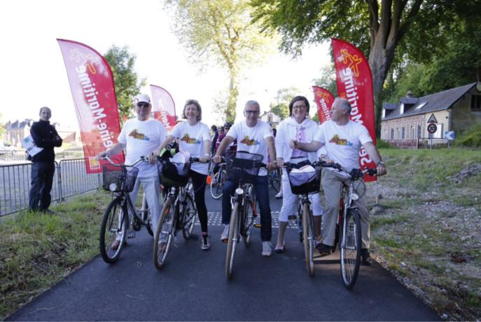 Pascal Martin, le président du Département de Seine-Maritime, a lui aussi enfourché son vélo (@DR)