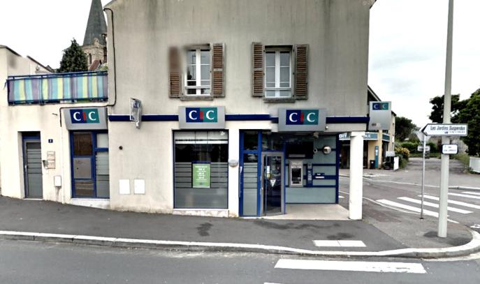 L'agence du CIC est implantée à l'angle des rues Louis Leprévost et Irène Joliot-Curie, dans le quartier Sanvic (@illustration)