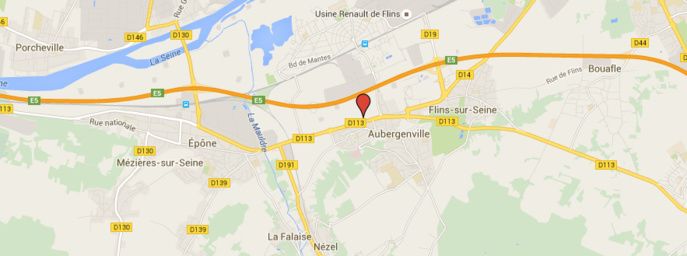 Voiture sur le toit : la D113 coupée et déviée entre Aubergenville et Epône