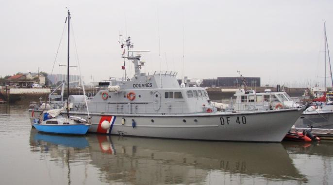 La vedette des garde-côtes de la direction régionale de Rouen était en mission de surveillance lorsque le sloop a été repéré par les douaniers (Photo@Douane)