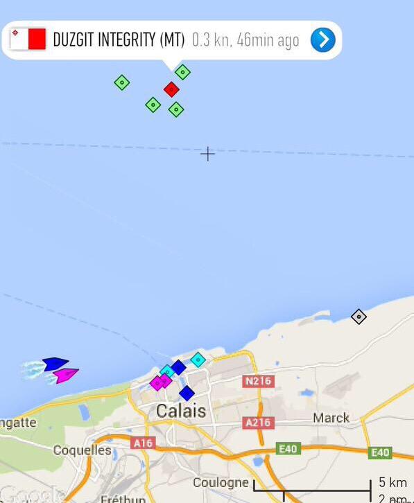Évacuation : le cuisinier d'un navire victime d'un arrêt cardio-respiratoire au large de Calais