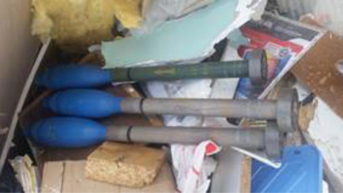 Les trois roquettes seront prises en charge par le service de déminage (Photo : DDSP)