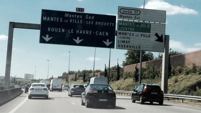 Le trafic devrait être soutenu des ce vendredi soir sur l'A13 en direction de la Normandie ( Illustration@infoNormandie)
