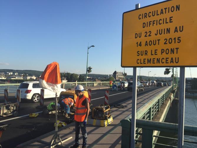 La remise en état du pont Clemenceau à Vernon est le gros chantier de l'été dans l'Eure (Photo@CD)