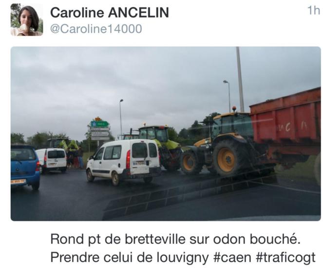 Routes bloquées par les agriculteurs ce matin dans le Calvados