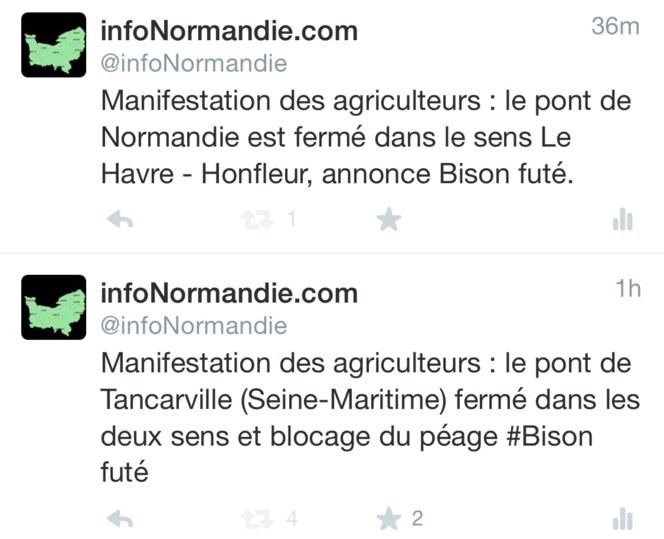 Agriculteurs : les ponts de Normandie et de Tancarville fermés à la circulation