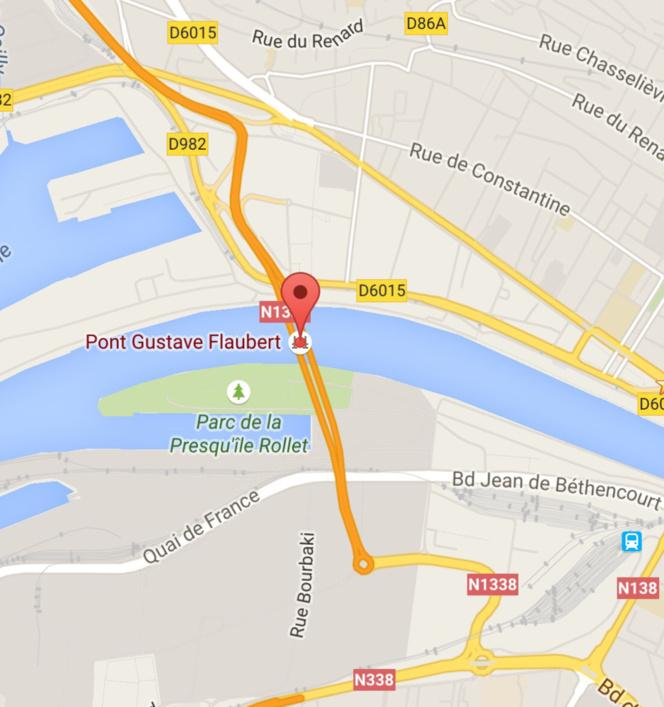 Rouen : le pont Flaubert et ses accès fermés à la circulation deux nuits de suite