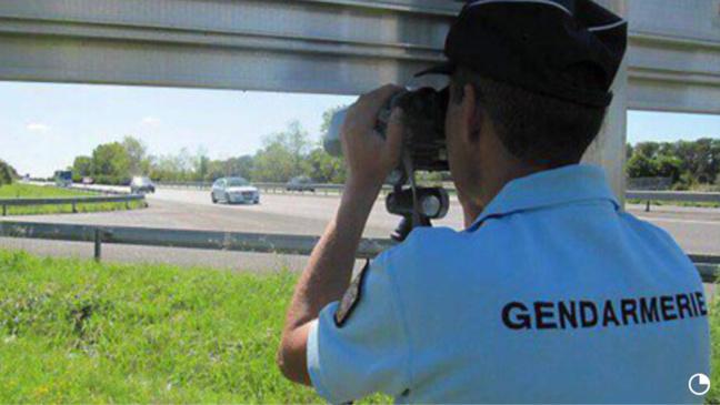 @Illustration. L'automobiliste a été contrôlé à 138 km/h sur une route limitée à 70 km/h. Il a fait l'objet d'une rétention de permis