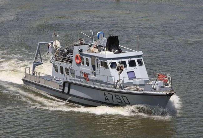 Le patrouilleur de surveillance des sites La Coralline, en escale ce week-end à Saint-Valéry-en-Caux, sa ville marraine