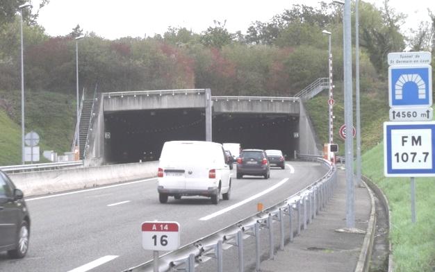 L'autoroute A14 fermée la nuit, du 24 au 28 août, pour des travaux de sécurité