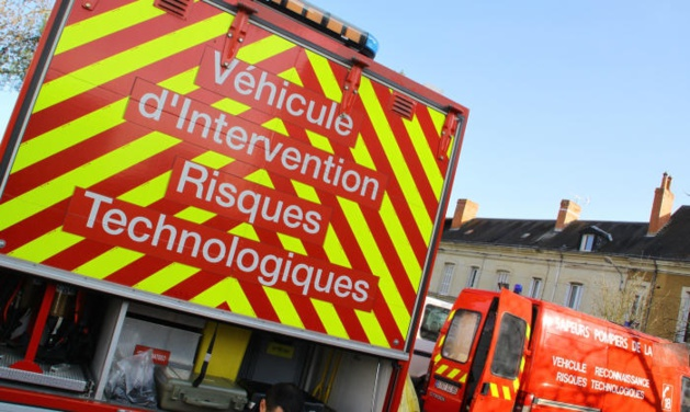 Les pompiers ont fait intervenir leur véhicule d'intervention des risques technologiques (Illustration)