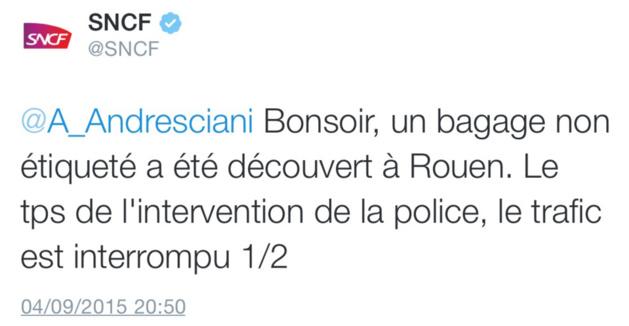 Alerte au colis suspect : la gare de Rouen évacuée ce soir, le déminage est attendu