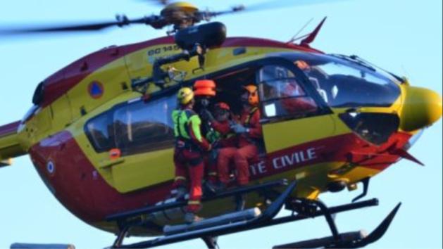 Les pompiers du GRIMP et l'hélicoptère de la sécurité civile ont été mobilisés