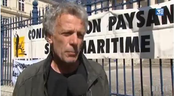 Olivier Lainé, lors de sa sortie de la Cour d'appel d'Amiens en juin dernier (Photo : capture d'écran France 3 Picardie)