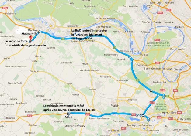 Yvelines : 125 km de course-poursuite entre un chauffard, la gendarmerie et la police