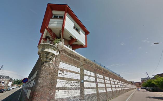 Le parachutage d'objets les plus divers (drogue, téléphone portable, nourriture...) est un phénomène que connaissent toutes les prisons françaises. Photo d'illustration de la maison d'arrêt de Rouen @Google Maps