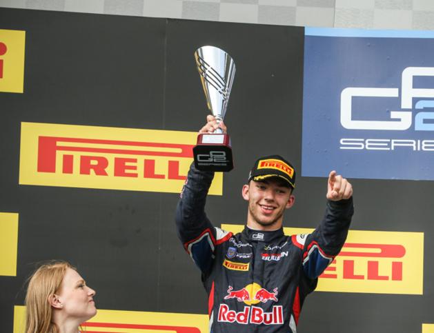 Pierre Gasly sur le podium du circuit de Budapest  le 24 juillet dernier - Crédit photo ©DR