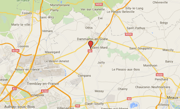 Accident de poids-lourd : la N2 coupée en direction de Dammartin-en-Goêle (77)