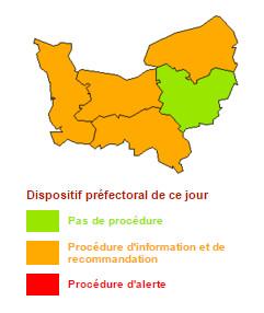 Pollution de l'air : les recommandations du préfet de Seine-Maritime pour lundi et mardi