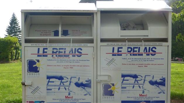 Illustration. Des vêtements auraient été dérobés dans plusieurs containers du Relais, selon les premières investigations policières