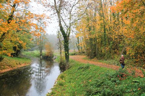 Dix-huit mois de travaux auront été nécessaires pour que coule à nouveau la rivière à Condé-sur-Iton (Photo @Département 27)